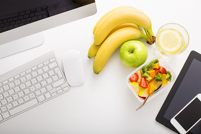 Healthy Snacks by computer