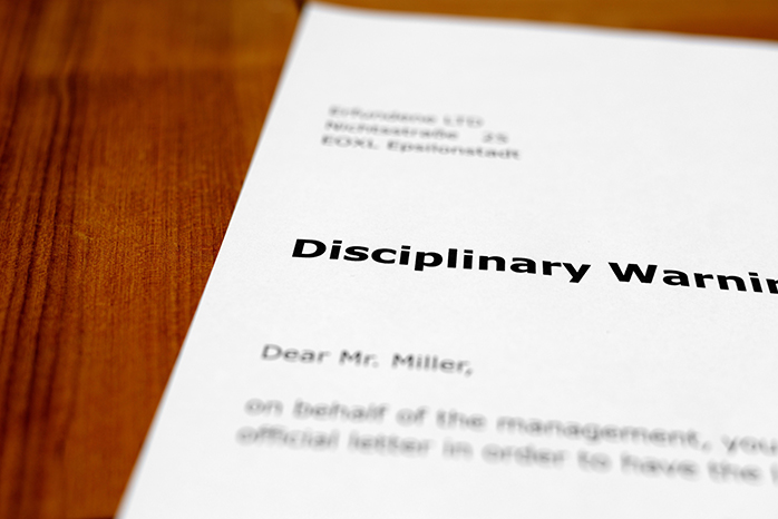 Disciplinary Warning